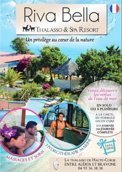 Brochure Soins Thalasso sans hébergement - Riva Bella Spa en Corse