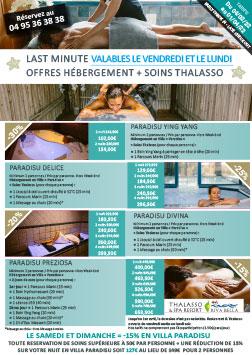 Brochure Soins Thalasso avec hébergement - Riva Bella Spa en Corse