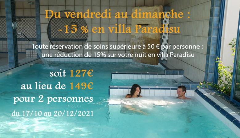 -15% en villa Paradisu