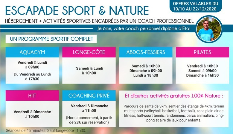 Escapade Paradisu Sport et Nature