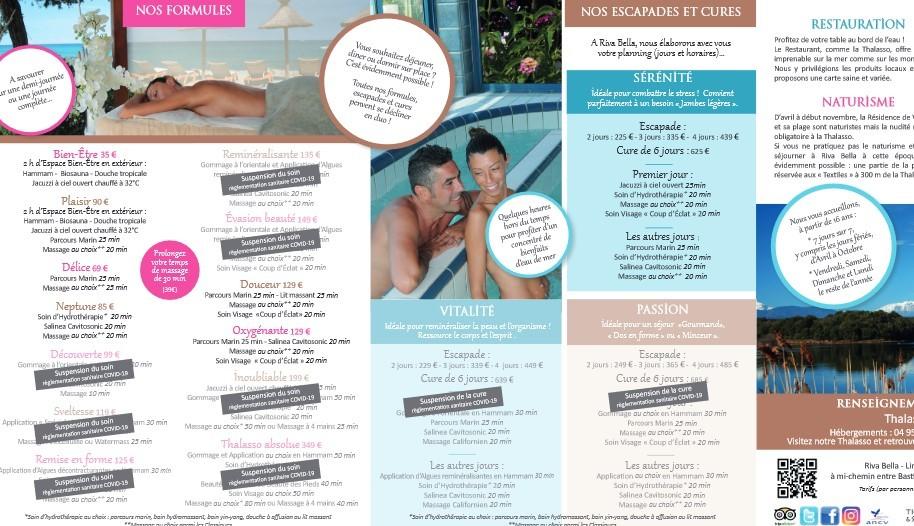 Brochure Thalasso Riva Bella juillet 2020